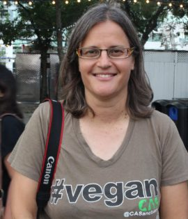Photograph of Anita Krajnc, co-founder and organizer with Toronto Pig Save.