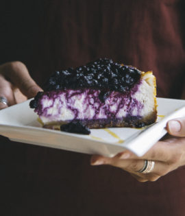 Cosmic Treats Berrylicious Blueberry Cheesecake